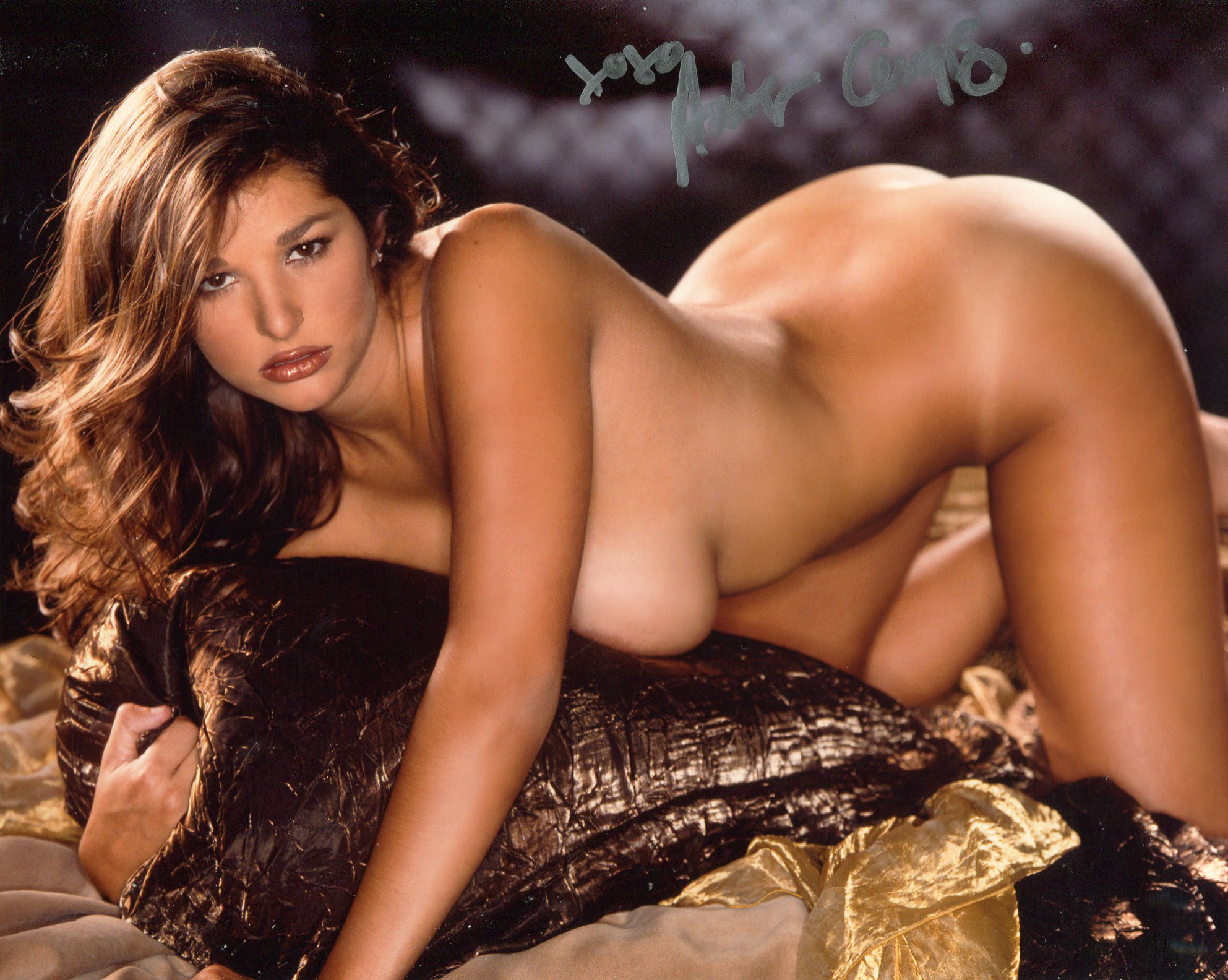Playboy playmate Amber Campisi signed 8x10 photo. Good condition. All autographs come with a