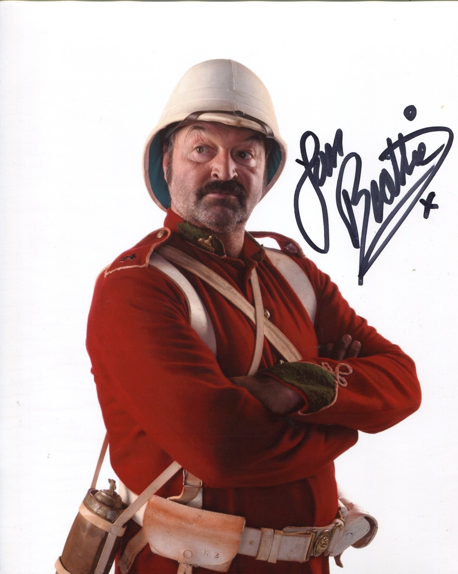 Doctor Who Empress of Mars 8x10 photo signed by actor Ian Beattie as 'Jackdaw'. Good condition.