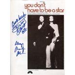 Motown, R&B, Blues pop stars Billy Davis Jr and Marilyn McCoo signed original sheet music for