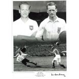 Tom Finney Preston Signed 16 x 12 inch football photo. Good condition. All autographs come with a