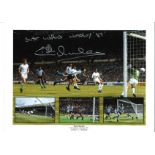 Keith Houchen FA Cup Final Coventry City Signed 16 x 12 inch football photo. Good condition. All