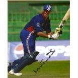 Cricket. Marcus Edward Trescothick MBE Signed 10x8 colour photo. Photo shows Trescothick batting