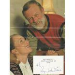Roger Whittaker signed 3 x 4 1 2 white card Rotherfield Country & Antiques Fair dated 1976. Includes