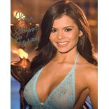 Playboy playmate Alana Campos signed 8x10 photo. Good condition. All autographs come with a