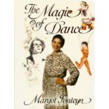 Margot Fonteyn Signed hardback book The Magic of Dance 1980 published by the BBC in Good