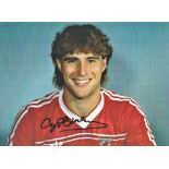 Football Clayton Blackmore signed 16x12 colour photo pictured in Wales shirt. Good condition. All