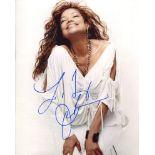 Latoya Jackson, amazing 8x10 photo signed by pop star Latoya Jackson, brother of Michael Jackson.