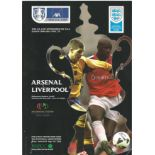 FA Cup Final and Semi-finals Matchday Programme collection. Arsenal V Liverpool in 2001, Arsenal V