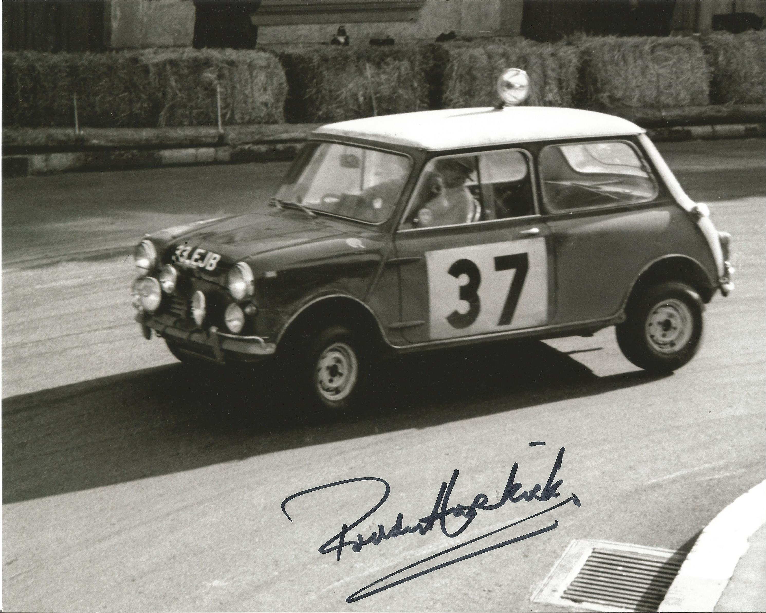 Paddy Hopkirk signed 10x8 black and white photo. Patrick Barron Hopkirk MBE born 14 April 1933 is