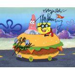SpongeBob Squarepants 8x10 photo signed by Tom Kenny Spongebob and Bill Fagerbakke Patrick Star a
