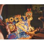 Chicken Run animated movie scene photo signed by actress Julia Sawalha. Good condition. All
