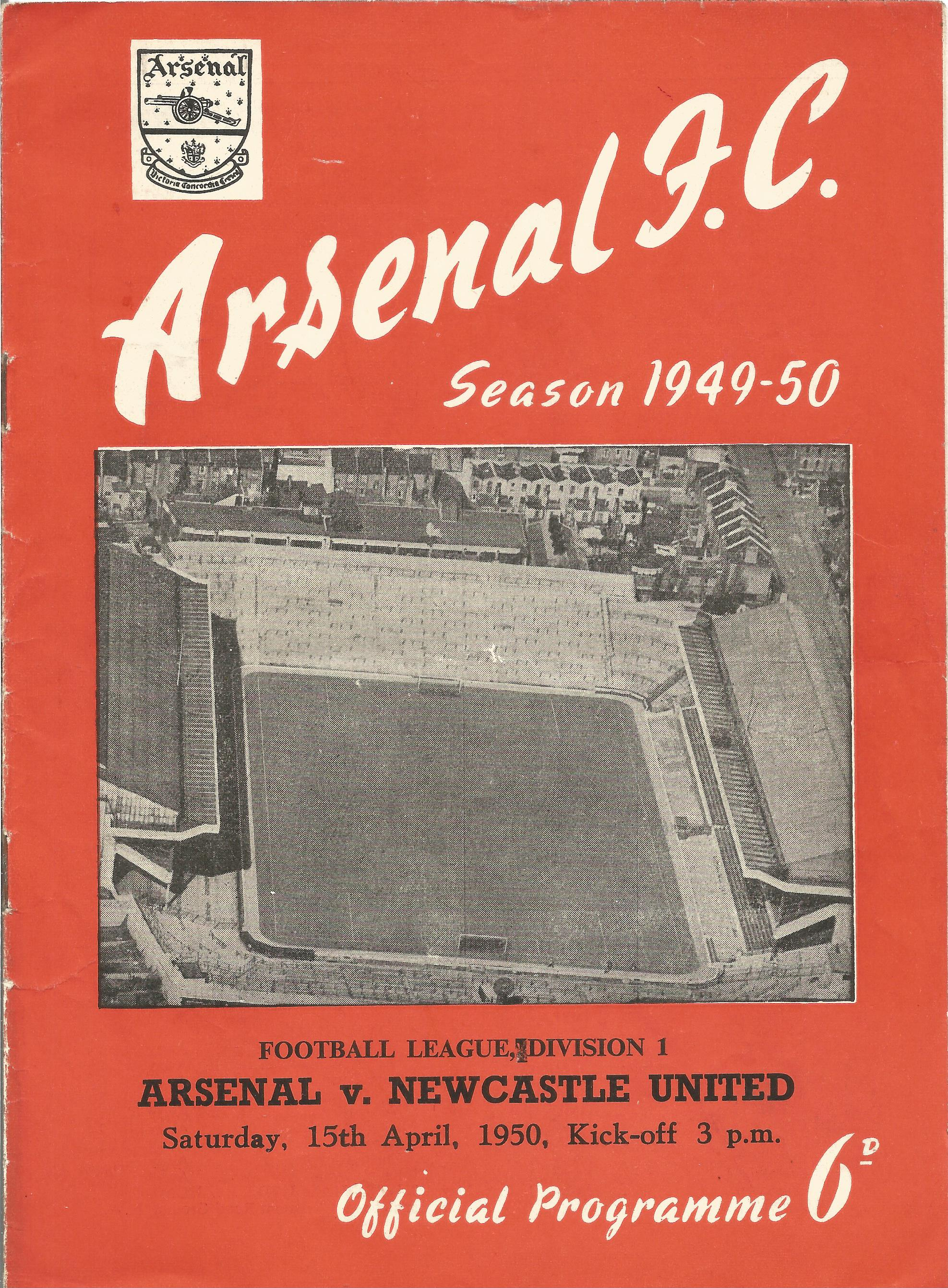 Arsenal. A Collection of 4 matchday programmes. From 1950, 1969, 1969 and 1983. some showing signs - Image 2 of 5