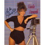 Linda Lusardi. Nice 8x10 photo signed by 1980's Page 3 girl Linda Lusardi. Good condition. All