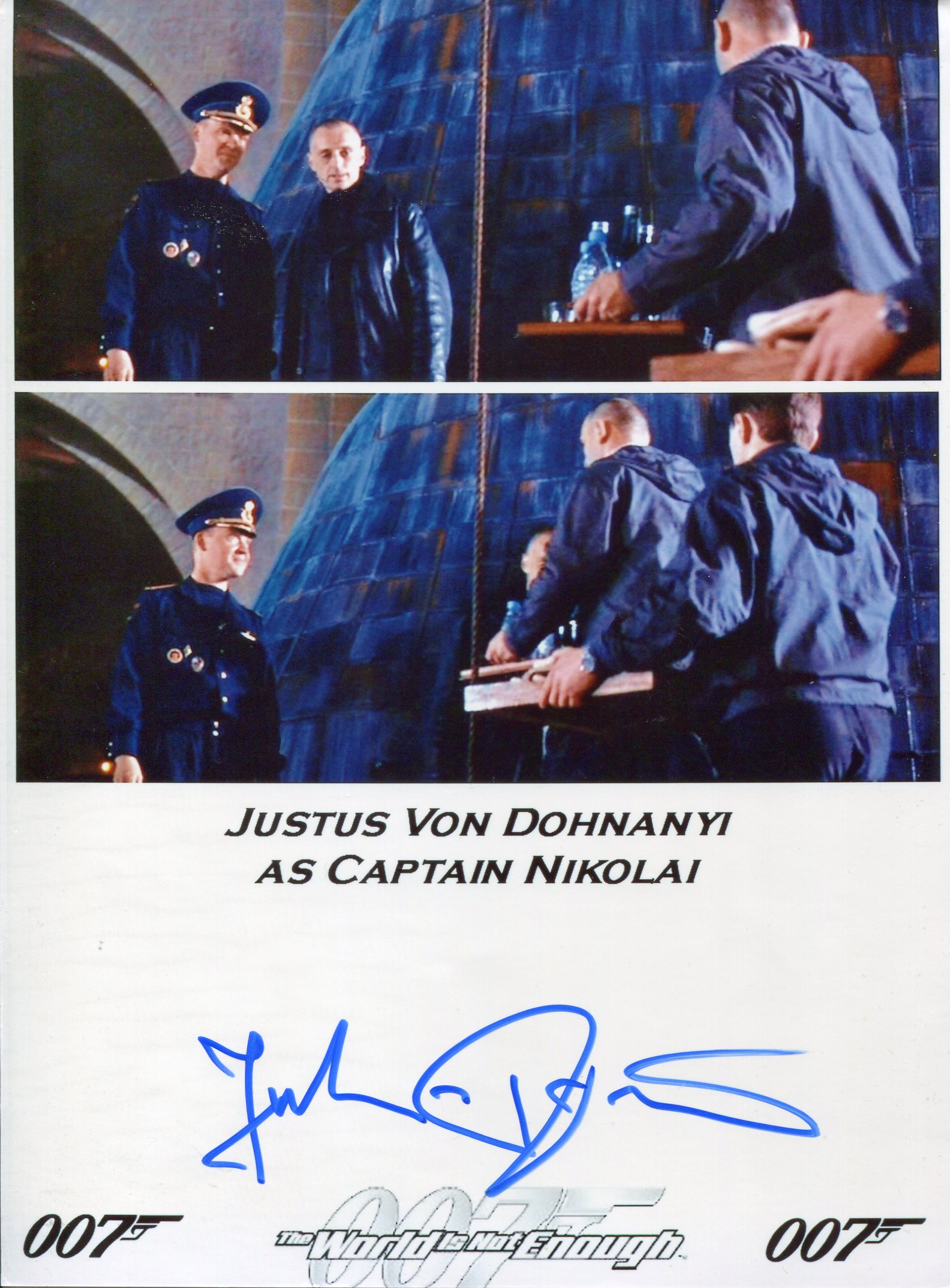 007 James Bond movie The World is Not Enough 8x11 photo signed by actor Justus Von Dohnanyi as