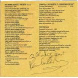Paul McCartney signed CD booklet. Good condition. All autographs come with a Certificate of