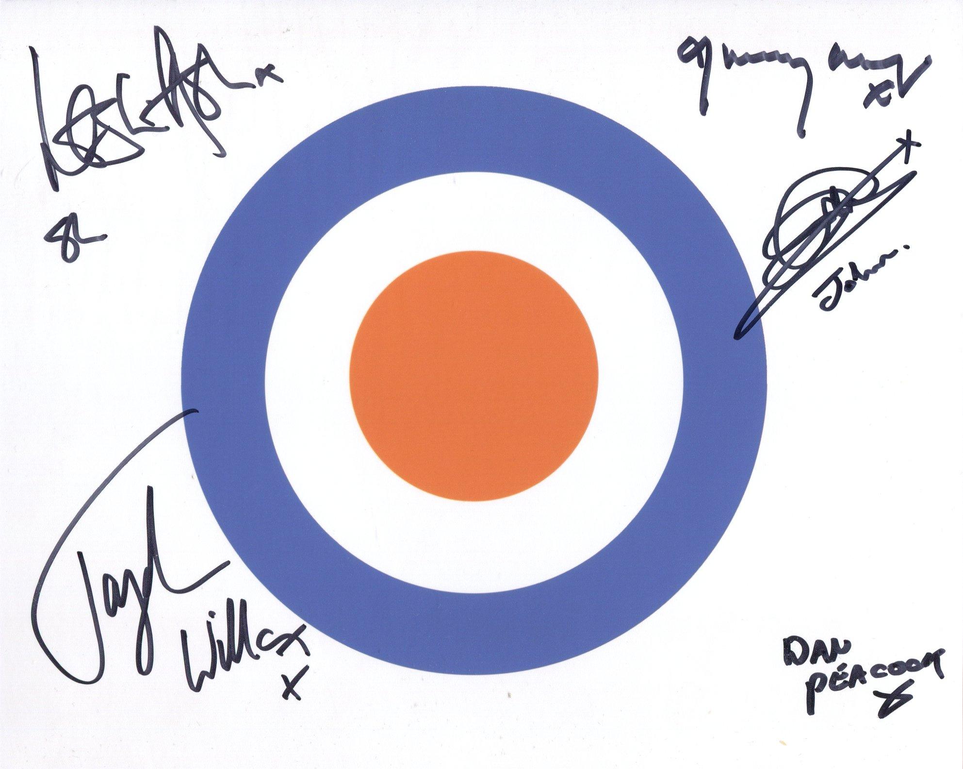 Quadrophenia. 8x10 photo from the classic British musical movie Quadrophenia signed by actors Leslie