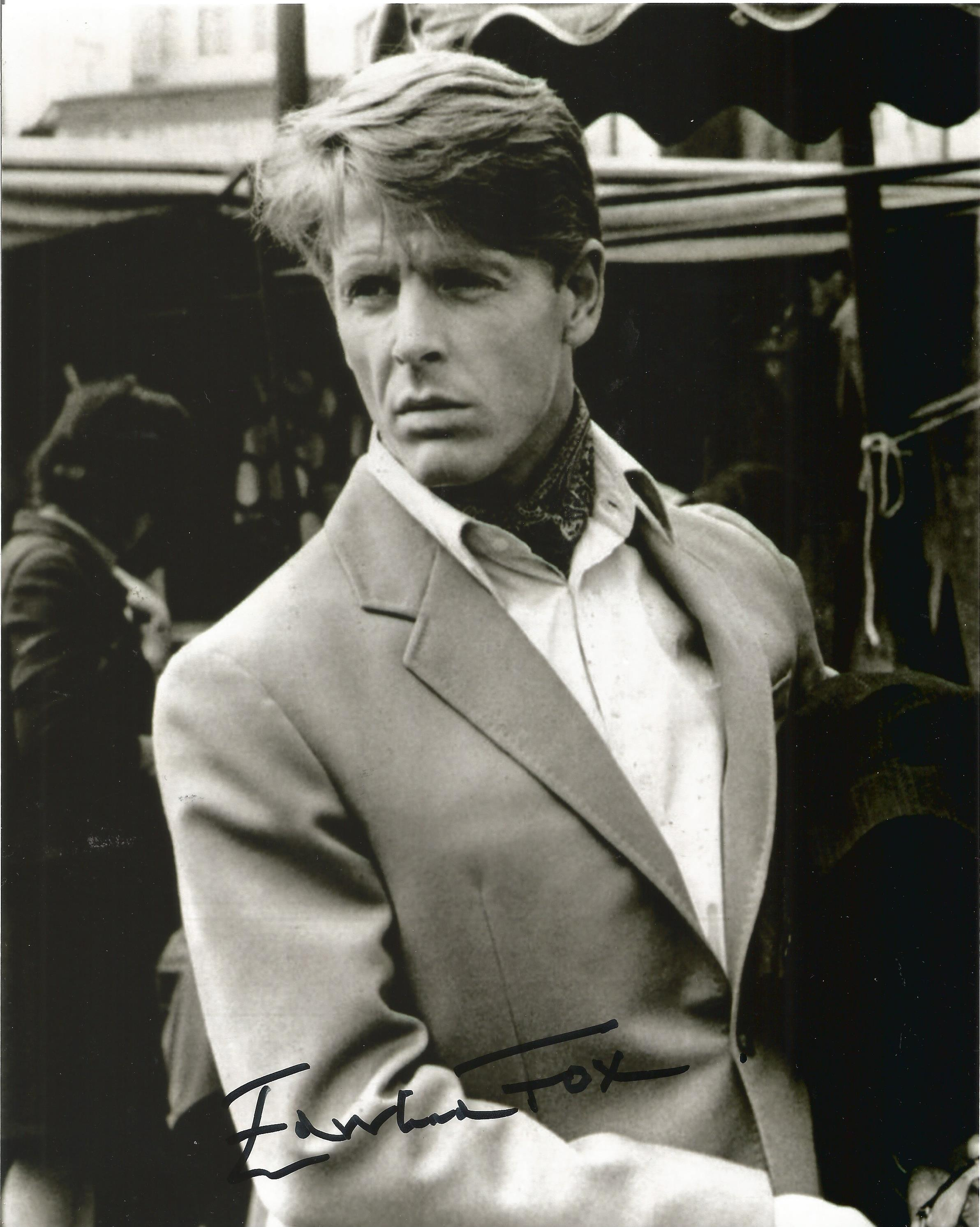 Edward Fox signed 10x8 black and white photo. Edward Charles Morice Fox OBE born 13 April 1937 is an