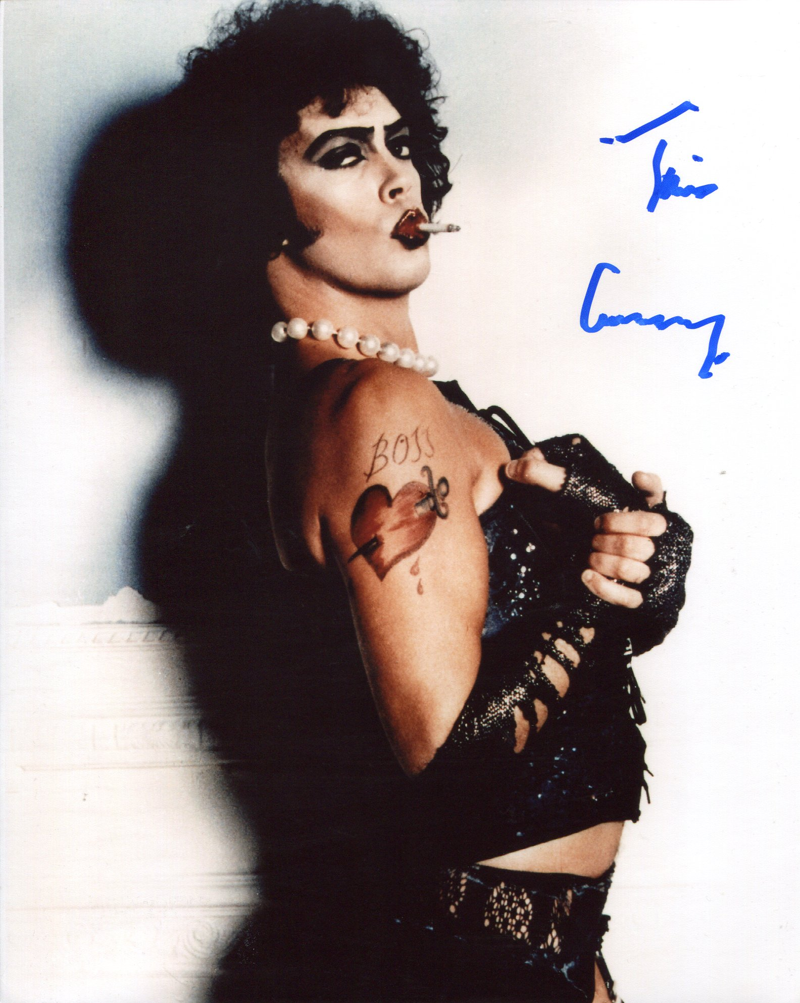 Tim Curry, 8x10 Rocky Horror photo signed by actor Tim Curry. Good condition. All autographs come