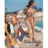 007 James Bond movie Thunderball 8x10 photo signed by actress Martine Beswick. Good condition. All