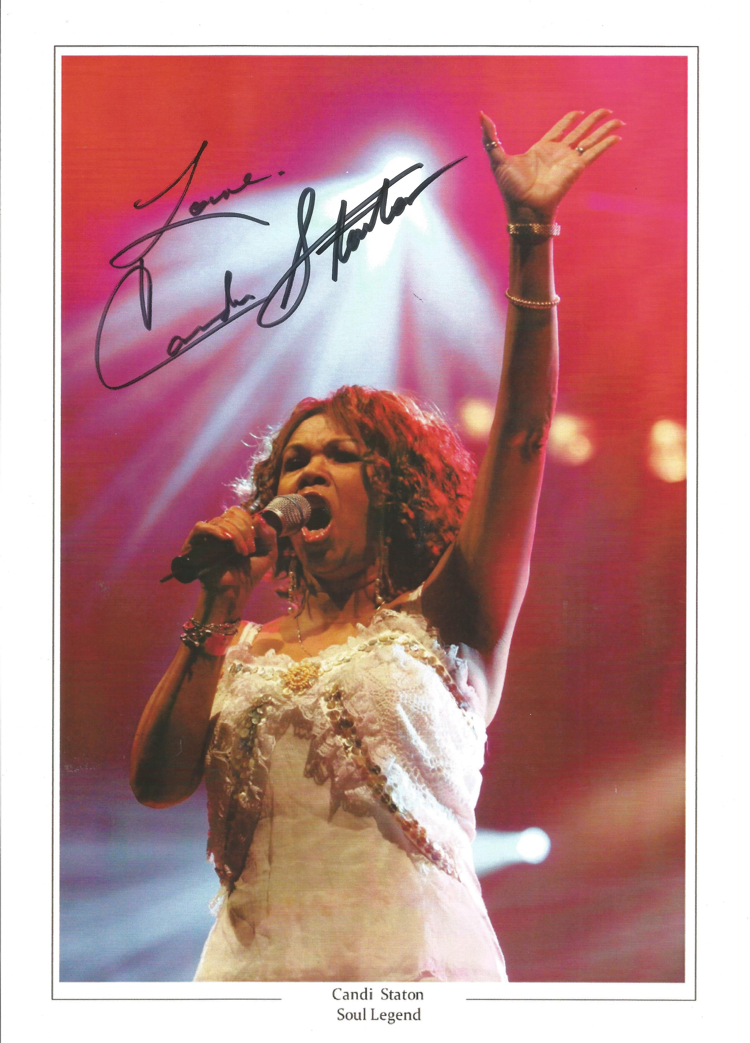 Candi Staton Soul Legend signed 12x8 colour photo. Canzetta Maria Candi Staton born March 13,