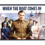 When The Boat Comes In, 1970's TV drama series photo signed by James Bolam Jack Ford and Susan