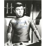 Deforest Kelly signed 10x8 black and white Star Trek photo. Jackson DeForest Kelley (January 20,