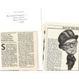 Alec Guinness signed 6x3 white card dedicated dated 1982. Sir Alec Guinness CH CBE (born Alec
