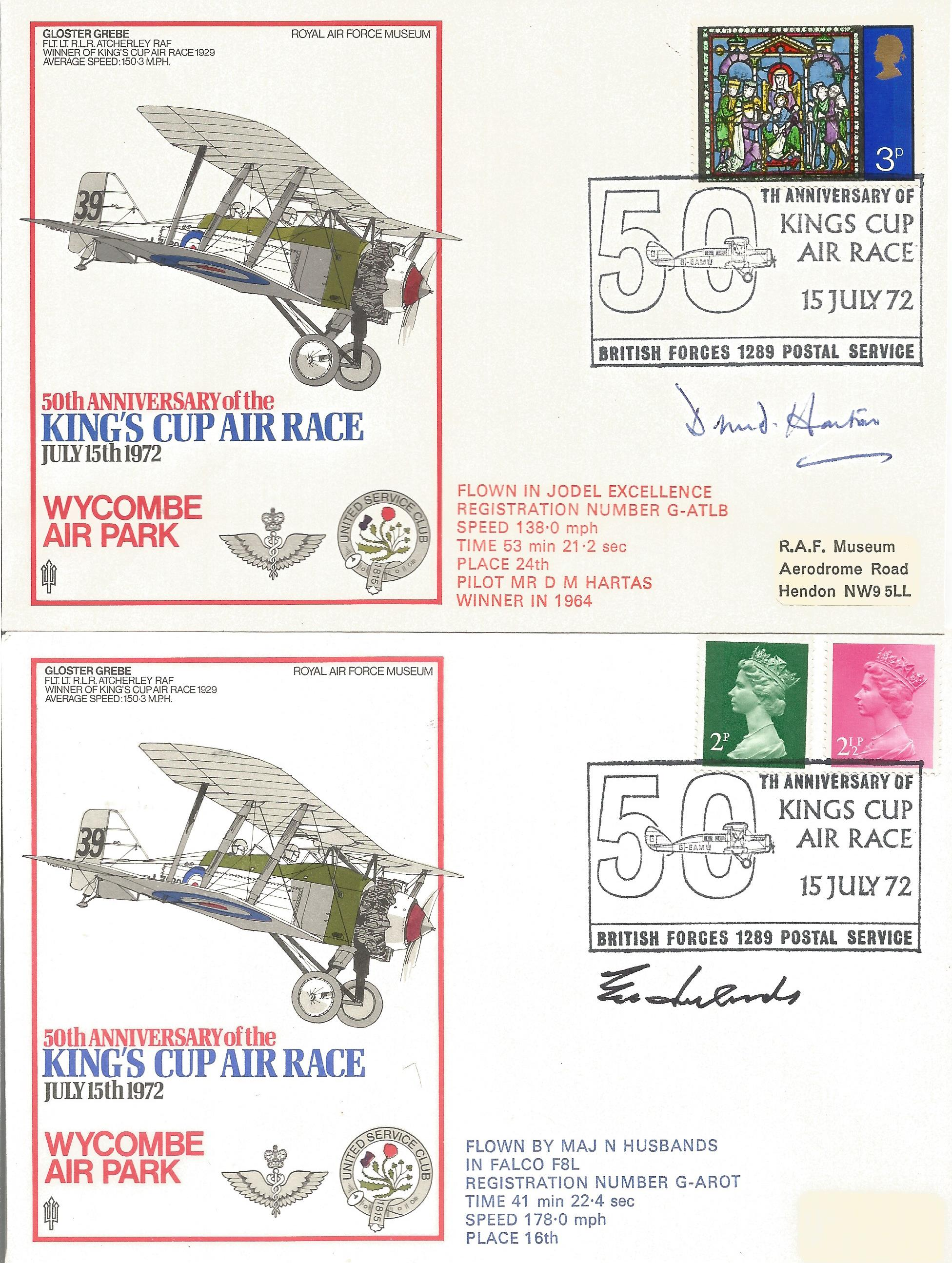 RAF Kings Cup Air Race Series VIP signed collection. The full set of 43 1972 Kings Cup Air Race - Image 5 of 6