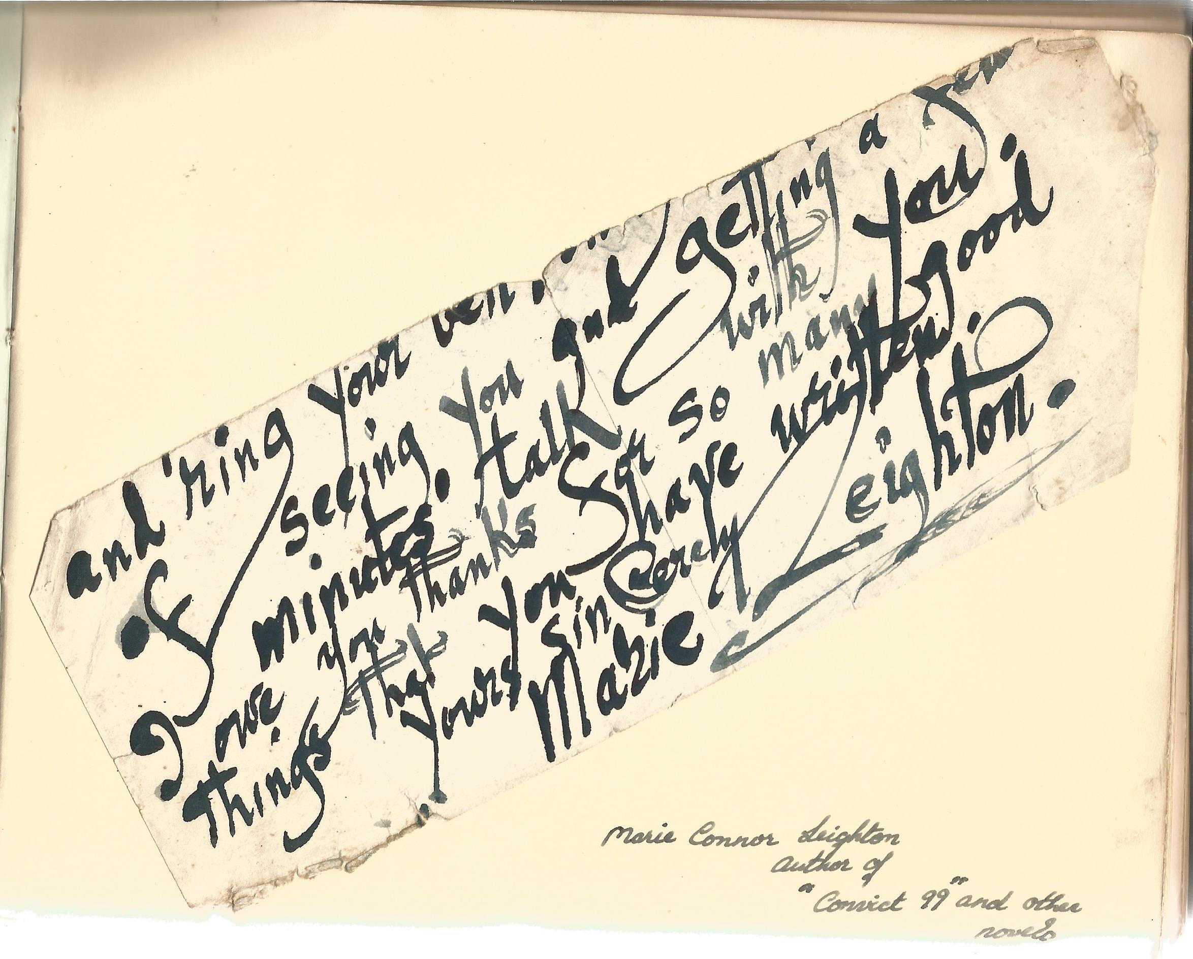 Literary autograph book collection includes some well-known names such as Sir Richard Terry, JB - Image 2 of 9
