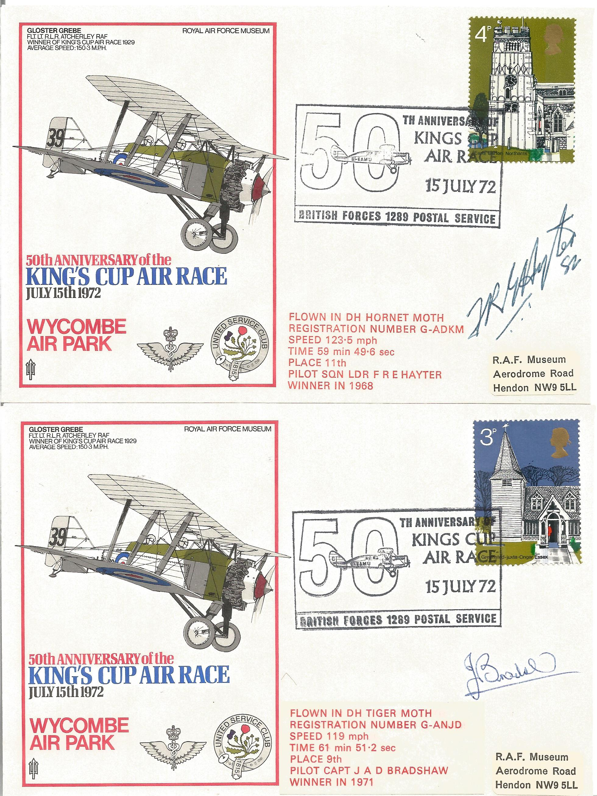 RAF Kings Cup Air Race Series VIP signed collection. The full set of 43 1972 Kings Cup Air Race - Image 3 of 6