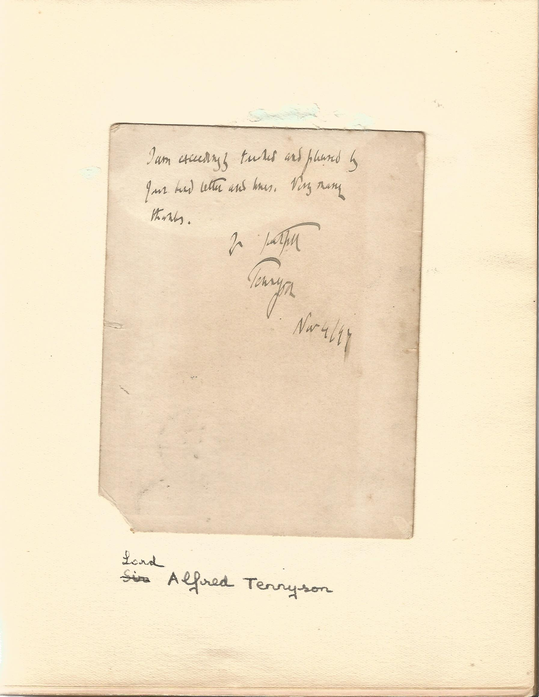 Literary autograph book collection includes some well-known names such as Sir Richard Terry, JB - Image 6 of 9