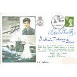Arthur Harris, Karl Donitz WW2 signed Sqn Ldr Bulloch Historic Aviators cover. Good condition. All