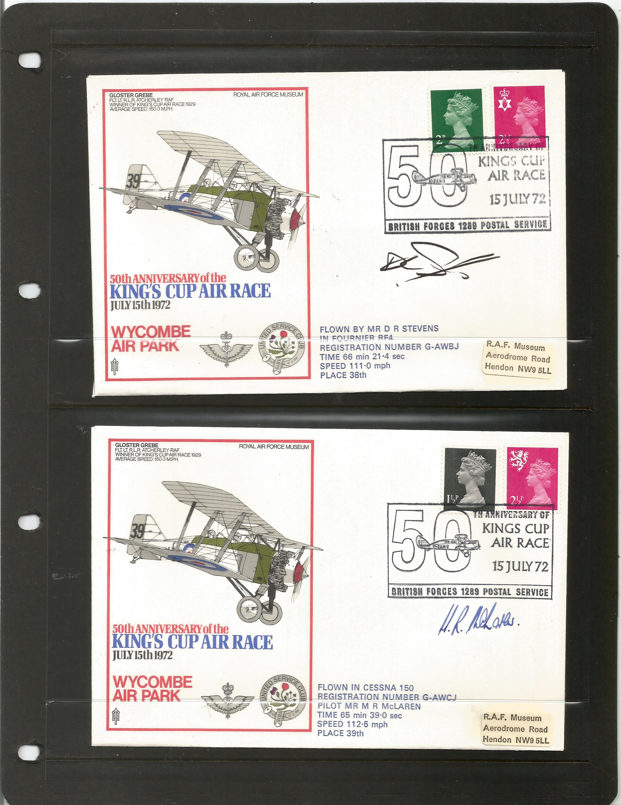 RAF Kings Cup Air Race Series VIP signed collection. The full set of 43 1972 Kings Cup Air Race - Image 6 of 6