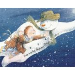 Raymond Briggs signed 10x8 The Snowman animated photo. Good condition. All autographs come with a