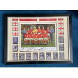 Football England 1966 World Cup Winners 23x31 multi signed mounted and framed signature piece