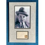 Edward G Robinson 15x10 mounted signature piece this item includes a superb black and white gangster