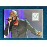 Seal 16x12 mounted and matted signature piece includes fantastic image of the singer songwriter.