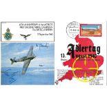 WW2 Luftwaffe aces signed Adler Tag Cover Hauptmann Heinrich Schmetz, Hauptmann Alois Magg KC.