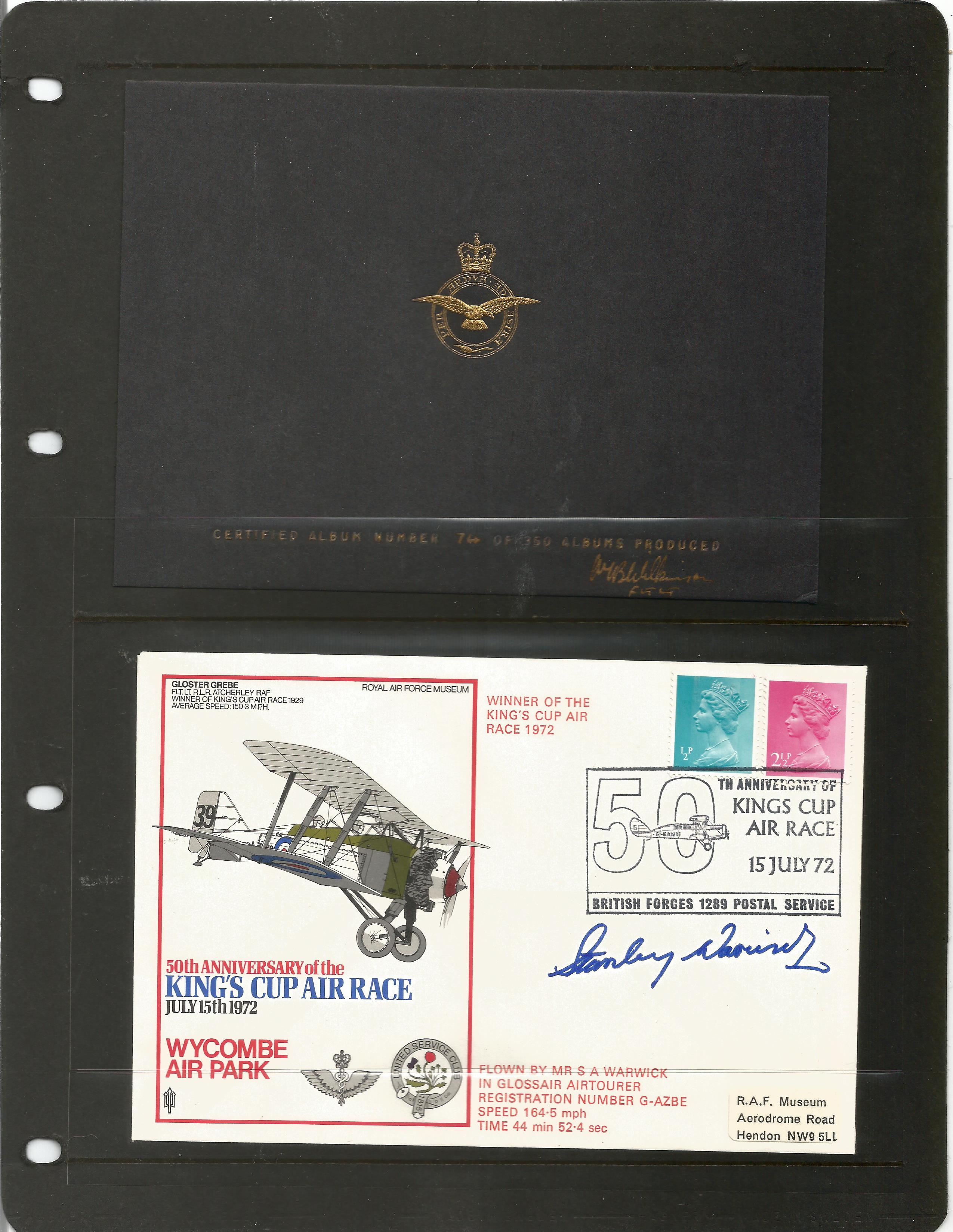 RAF Kings Cup Air Race Series VIP signed collection. The full set of 43 1972 Kings Cup Air Race - Image 4 of 6