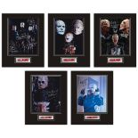 Set of 5 Stunning hand signed Hellraiser professionally mounted displays! This beautiful set of 5