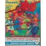 JOE FRAZIER vs MUHAMMAD ALI Official 1971 UNSIGNED World Heavyweight Boxing Championship Programme