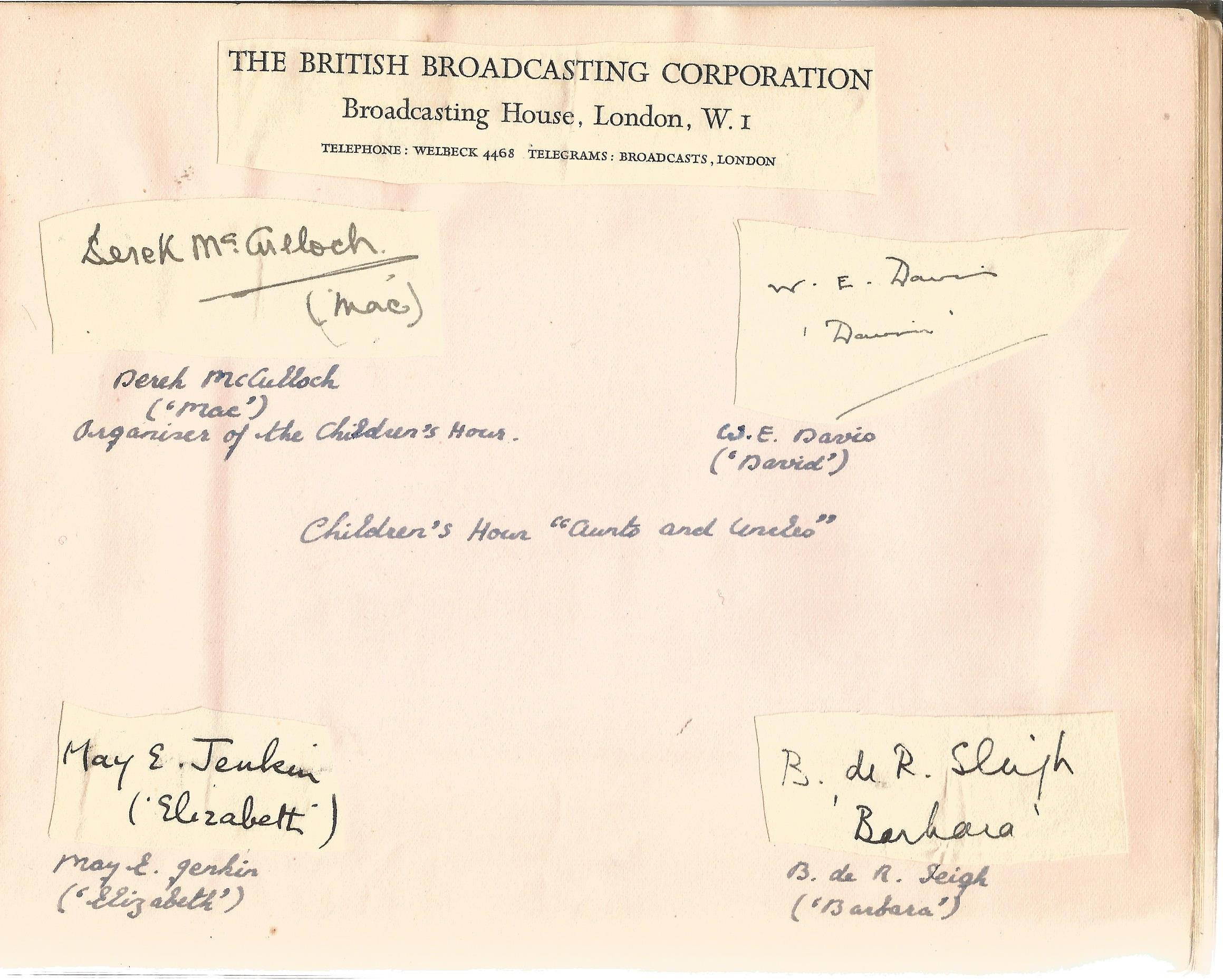 Literary autograph book collection includes some well-known names such as Sir Richard Terry, JB - Image 9 of 9