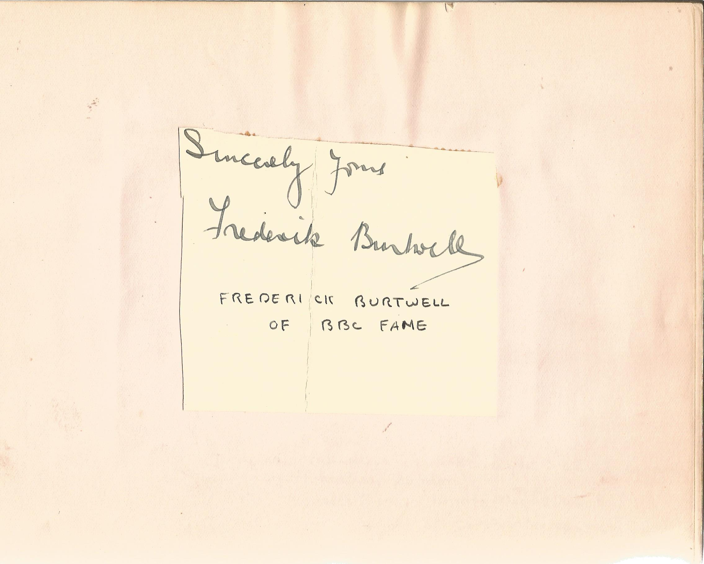 Literary autograph book collection includes some well-known names such as Sir Richard Terry, JB - Image 8 of 9