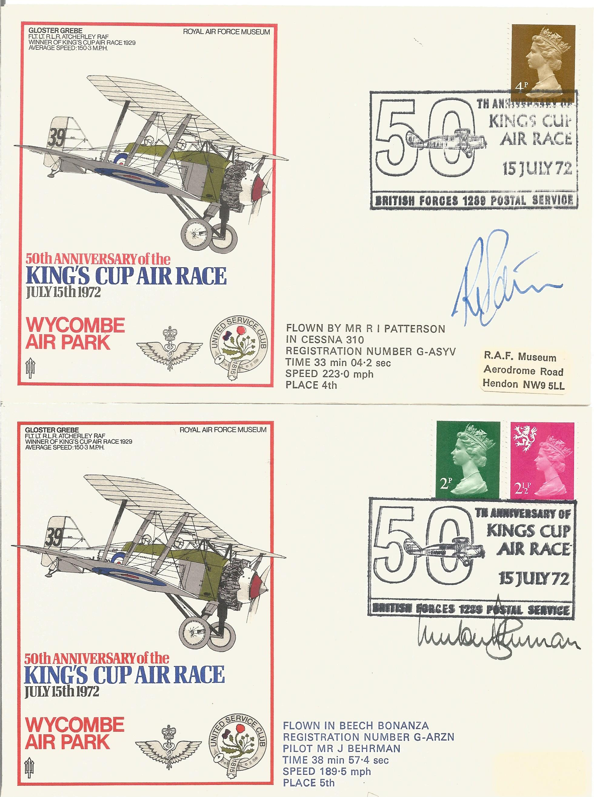 RAF Kings Cup Air Race Series VIP signed collection. The full set of 43 1972 Kings Cup Air Race - Image 2 of 6