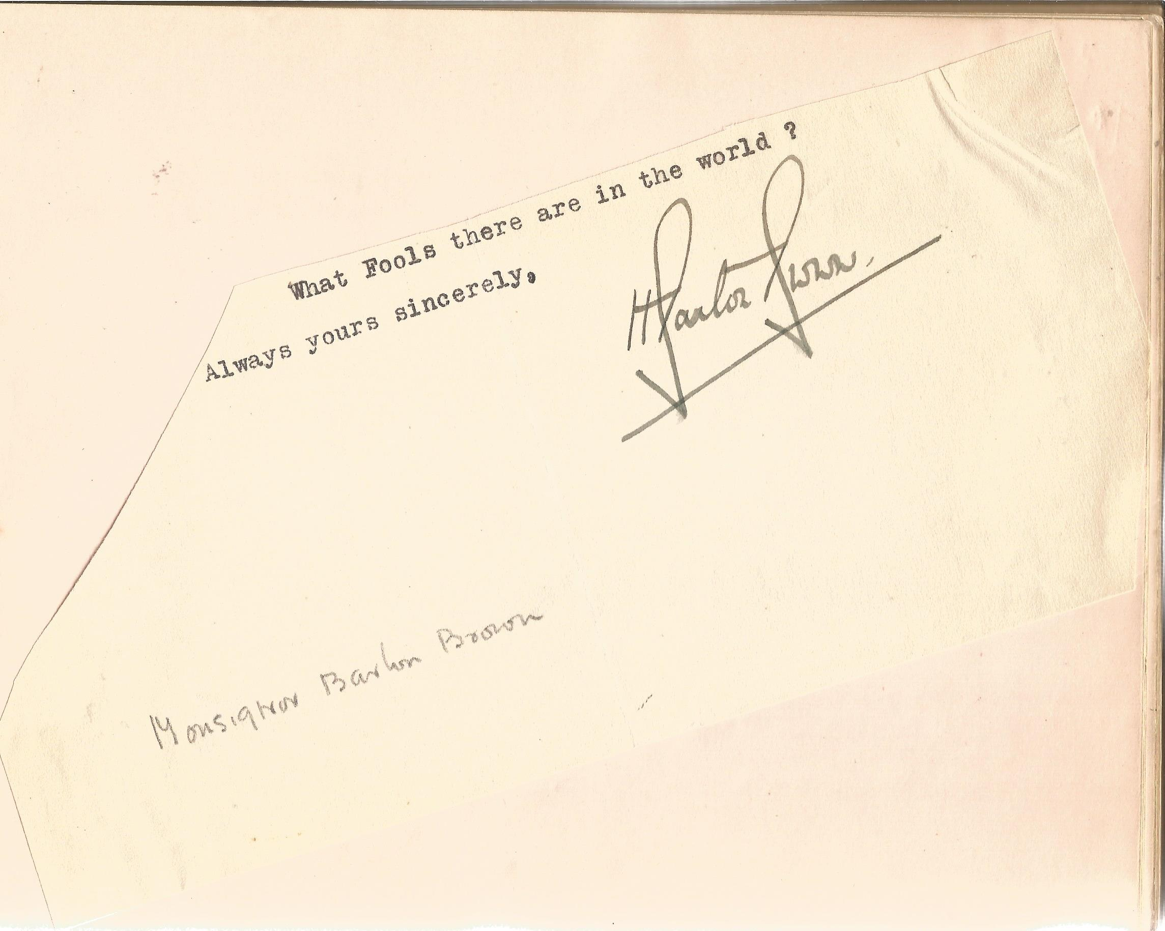 Literary autograph book collection includes some well-known names such as Sir Richard Terry, JB - Image 3 of 9