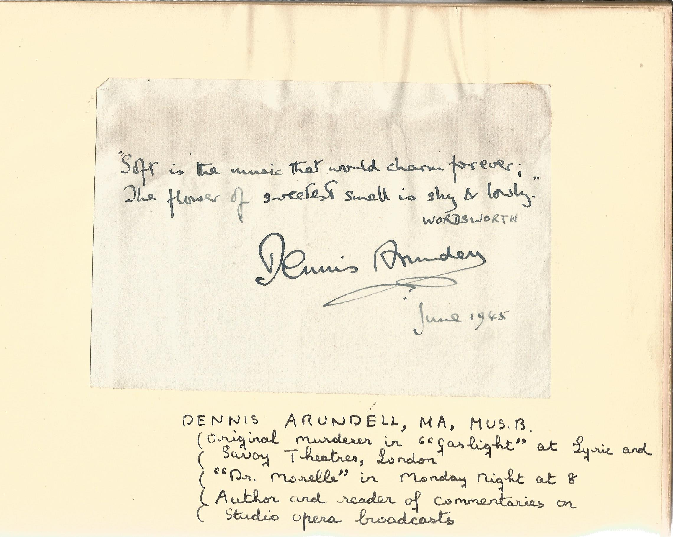 Literary autograph book collection includes some well-known names such as Sir Richard Terry, JB - Image 7 of 9