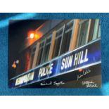 Bill multi signed 16x12 Sun Hill photo 3 signatures includes Michael Jayston, Victoria Alcock and