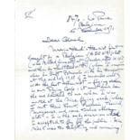 Baron Willy Coppens ALS dated 16th November 1971 fantastic three page letter includes some fantastic