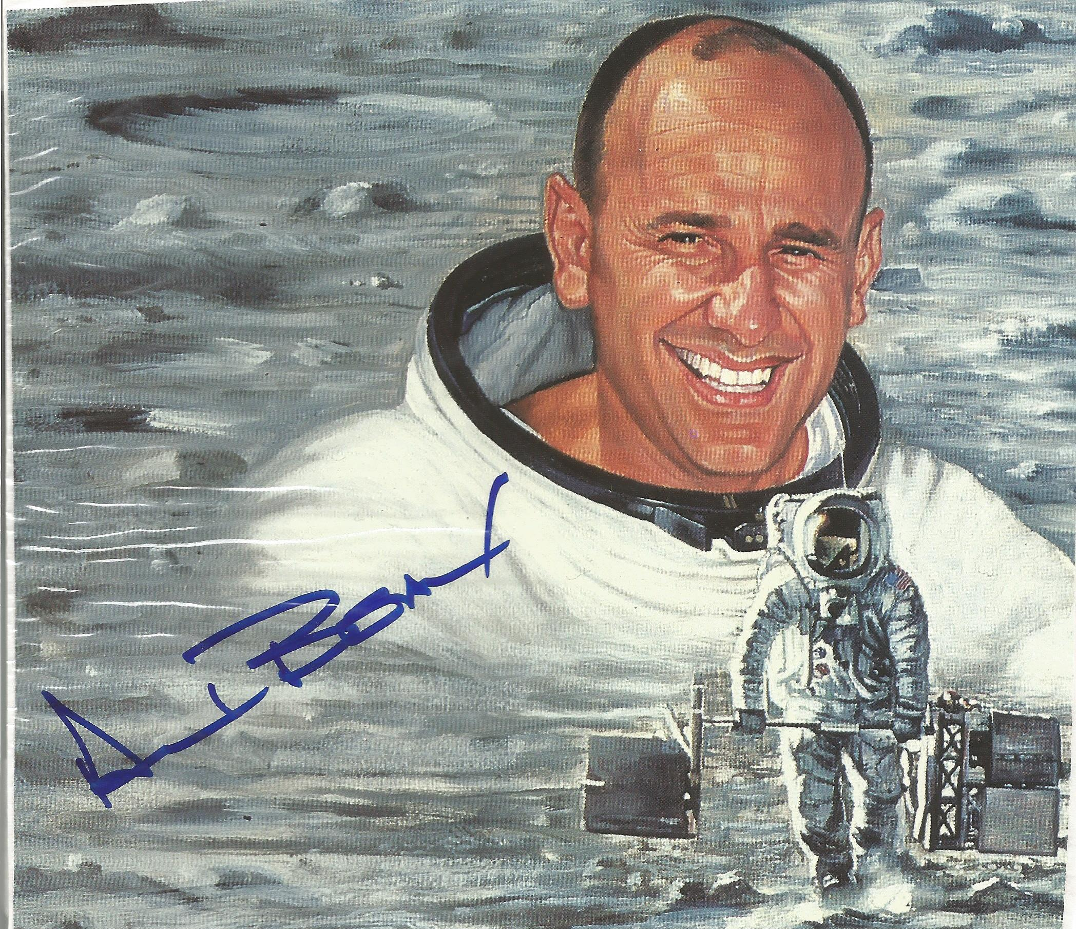 NASA Moon Walkers space collection 5 superb signed 14x15cm colour prints from astronauts Alan - Image 3 of 3