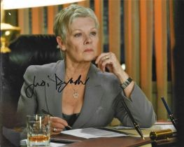 Judi Dench signed 10x8 colour photograph pictured from her time playing in James Bond